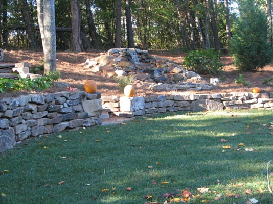 Rock work photos stone work photos greenville hartwell sc for Landscaping rocks greenville sc