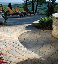 Bergerac pavers cobbled stone columbia seven oaks sc for Landscaping rocks columbia sc